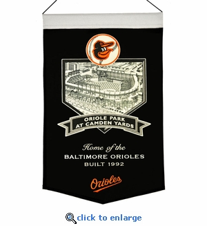 Oriole Park at Camden Yards Wool Banner (20 x 15) - Baltimore Orioles