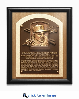 Orlando Cepeda Baseball Hall of Fame Plaque Framed Print - San Francisco Giants