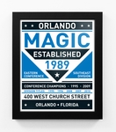 Orlando Magic Dual Tone Team Sign Print Framed