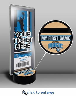 Orlando Magic My First Game Ticket Display Stand