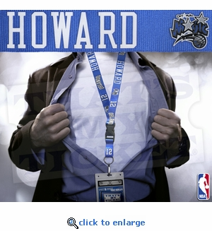Orlando Magic NBA Lanyard Key Chain and Ticket Holder - Dwight Howard