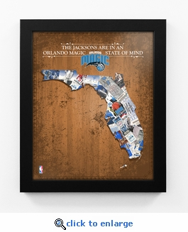 Orlando Magic Personalized State of Mind Framed Print - Florida