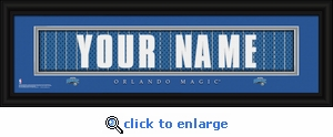 Orlando Magic Personalized Stitched Jersey Nameplate Framed Print