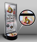 Ottawa Senators Hockey Puck Ticket Display Stand