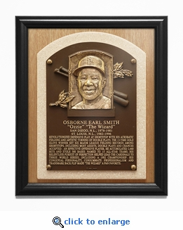 Ozzie Smith Baseball Hall of Fame Plaque Framed Print - St Louis Cardinals