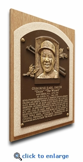 Ozzie Smith Baseball Hall of Fame Plaque on Canvas - St Louis Cardinals