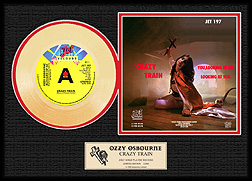 Ozzy Osbourne - Crazy Train Gold Record, LE 2,500