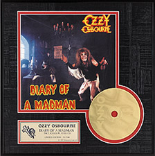 Ozzy Osbourne - Diary of a Madman Gold CD, LE 2,500