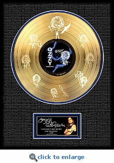 Ozzy Osbourne - Framed Etched Gold Record, LE 2,500