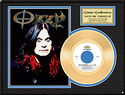 Ozzy Osbourne - Gets Me Through Framed Gold Record, LE 2,500