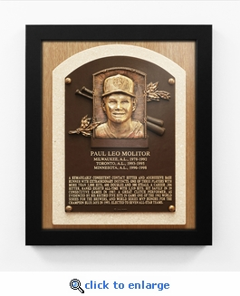Paul Molitor Baseball Hall of Fame Plaque Framed Print - Milwaukee Brewers