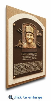 Paul Molitor Baseball Hall of Fame Plaque on Canvas - Milwaukee Brewers