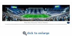 Penn State Nittany Lions Football - Stripe - Panoramic Photo (13.5 x 40)
