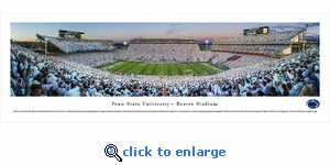 Penn State Nittany Lions Football - Sunset - Panoramic Photo (13.5 x 40)