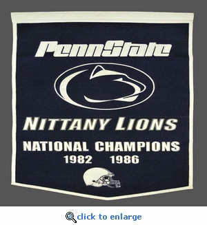 Penn State Nittany Lions National Champions Dynasty Wool Banner (24 X 36)