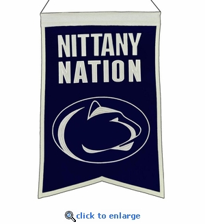 Penn State Nittany Lions Nations Wool Banner (14 x 22)
