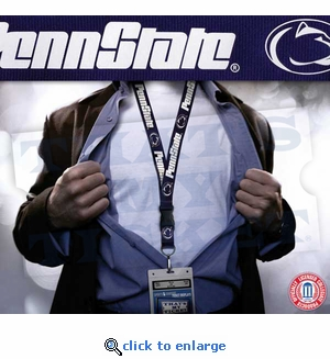 Penn State Nittany Lions NCAA Lanyard Key Chain and Ticket Holder