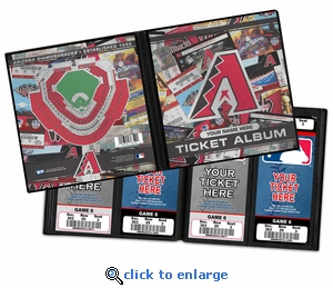 Personalized Arizona Diamondbacks Ticket Album