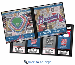 Personalized Atlanta Braves Ticket Album