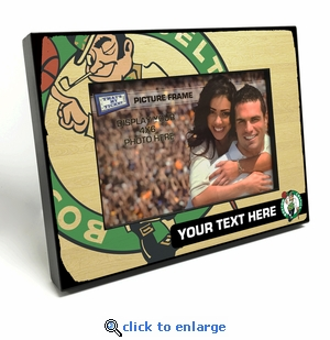 Boston Celtics Personalized Black Wood Edge 4x6 inch Picture Frame