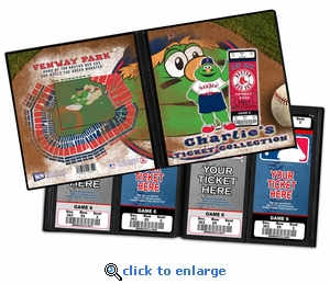 Personalized Boston Red Sox Mascot Ticket Album - Wally The Green Monster