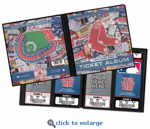 Personalized Boston Red Sox Ticket Album