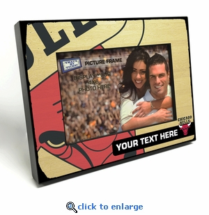 Chicago Bulls Personalized Black Wood Edge 4x6 inch Picture Frame