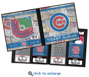 Personalized Chicago Cubs Ticket Album