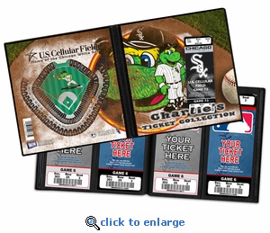 Personalized Chicago White Sox Mascot Ticket Album - Southpaw