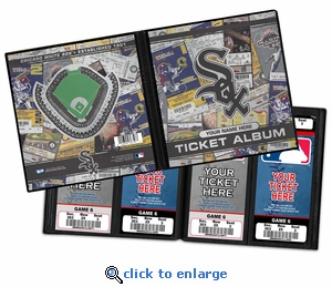 Personalized Chicago White Sox Ticket Album