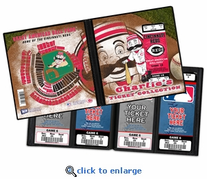 Personalized Cincinnati Reds Mascot Ticket Album - Mr Redlegs