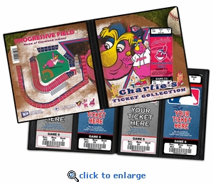 Personalized Cleveland Indians Mascot Ticket Album - Slider