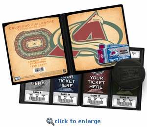 Personalized Colorado Avalanche Ticket Album - Vintage Design