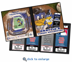 Personalized Colorado Rockies Mascot Ticket Album - Dinger
