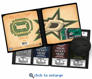 Personalized Dallas Stars Ticket Album - Vintage Design