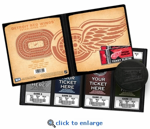 Personalized Detroit Red Wings Ticket Album - Vintage Design