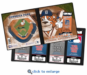 Personalized Detroit Tigers Mascot Ticket Album - Paws
