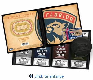 Personalized Florida Panthers Ticket Album - Vintage Design