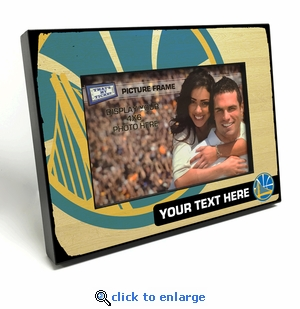 Golden State Warriors Personalized Black Wood Edge 4x6 inch Picture Frame