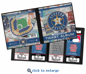 Personalized Houston Astros Ticket Album