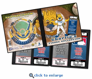 Personalized Kansas City Royals Mascot Ticket Album - Sluggerrr