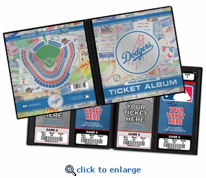 Personalized Los Angeles Dodgers Ticket Album