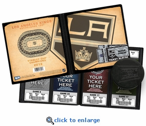 Personalized Los Angeles Kings Ticket Album - Vintage Design