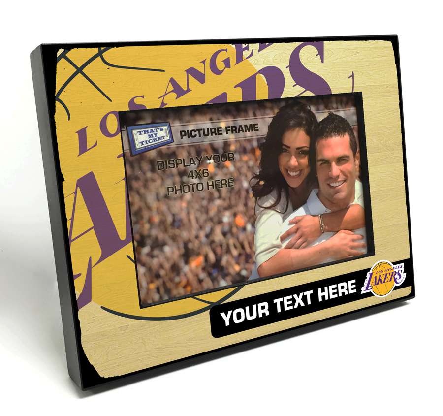 Los Angeles Lakers Personalized Black Wood Edge 4x6 inch Picture Frame