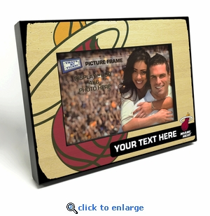 Miami Heat Personalized Black Wood Edge 4x6 inch Picture Frame