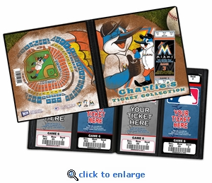 Personalized Miami Marlins Mascot Ticket Album - Billy the Marlin
