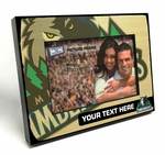 Personalized Minnesota Timberwolves Black Wood Edge 4x6 inch Picture Frame