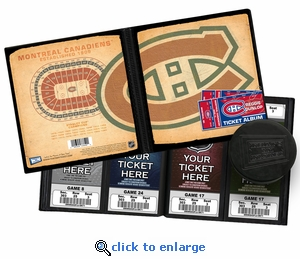 Personalized Montreal Canadiens Ticket Album - Vintage Design