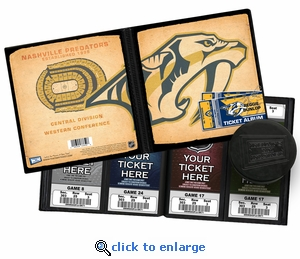 Personalized Nashville Predators Ticket Album - Vintage Design