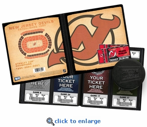 Personalized New Jersey Devils Ticket Album - Vintage Design